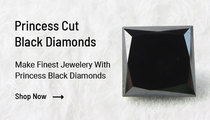 Princess Cut Black Diamonds