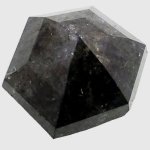 Shield brilliant cut black diamond