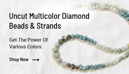 Multi Color Uncut Diamond Beads