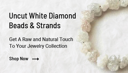 Uncut White Diamond Beads