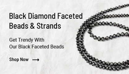 Black Diamond Faceted Beads