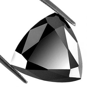 black diamond solitaire loose trillion cut