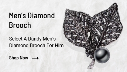 Mens Diamond Brooch
