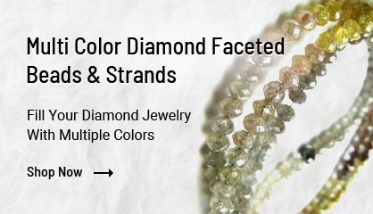 Multi Color Faceted Diamond Beads