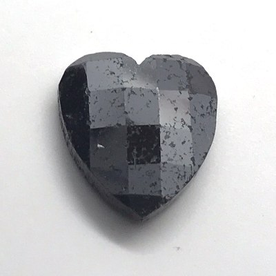 heart-shaped rose cut black diamond