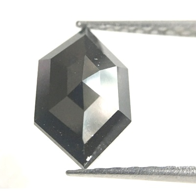 hexagon cut loose black diamond