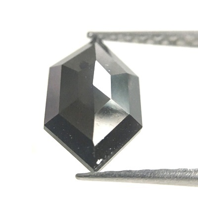 Hexagon Cut Loose Black Diamond In 1 22 Carats For Your