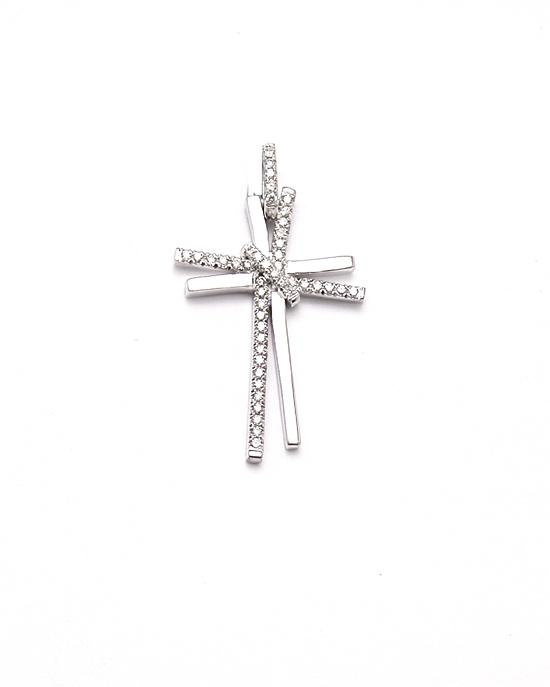 diamond cross gold pendant