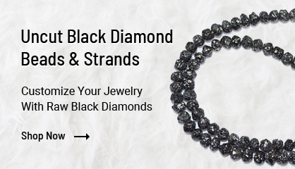 Uncut Black Diamond Beads