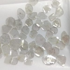 natural loose gray color diamond slice