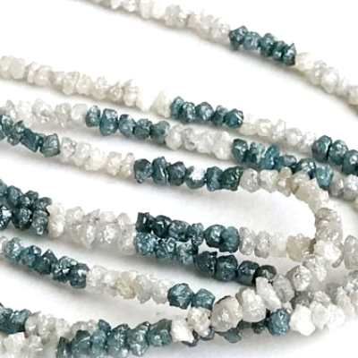 raw uncut diamond beads