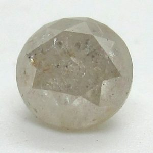 round brilliant cut milky diamond