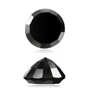 round rose cut black diamond
