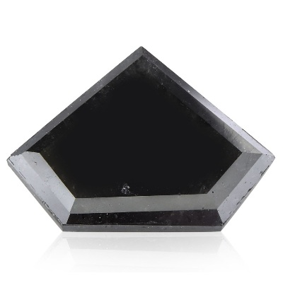 shield cut black diamond