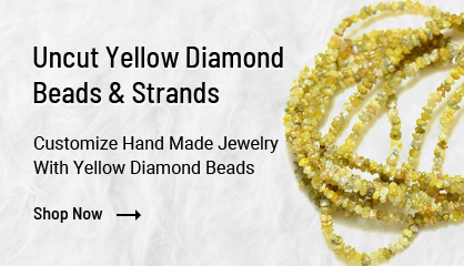 Uncut Yellow Diamond Beads