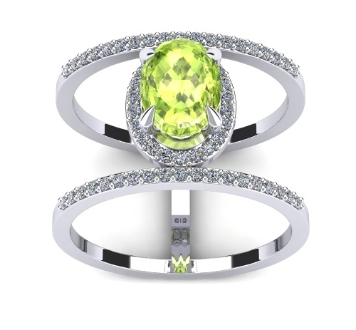 oval shaped peridot ring