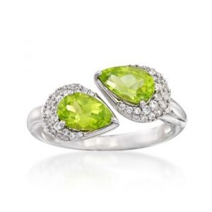 pear cut peridot ring