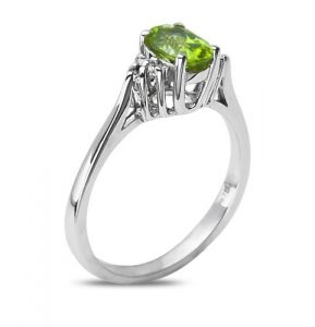 peridot diamond ring