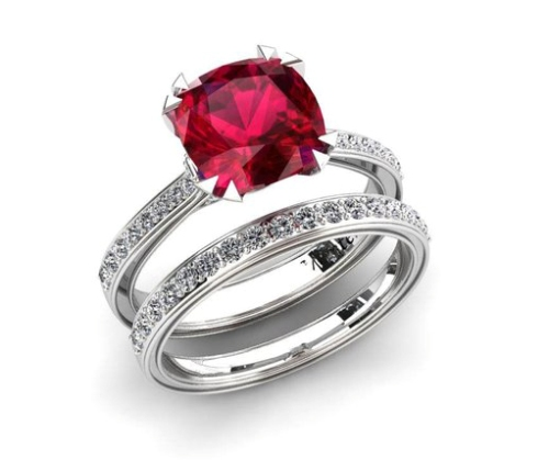 ruby engagement ring
