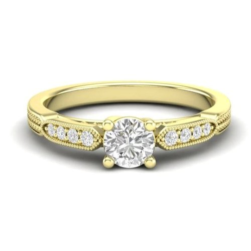 yellow gold vintage engagement ring