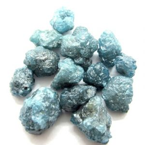 blue raw diamonds