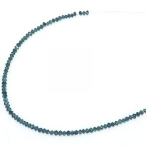blue diamond faceted beads bracelet