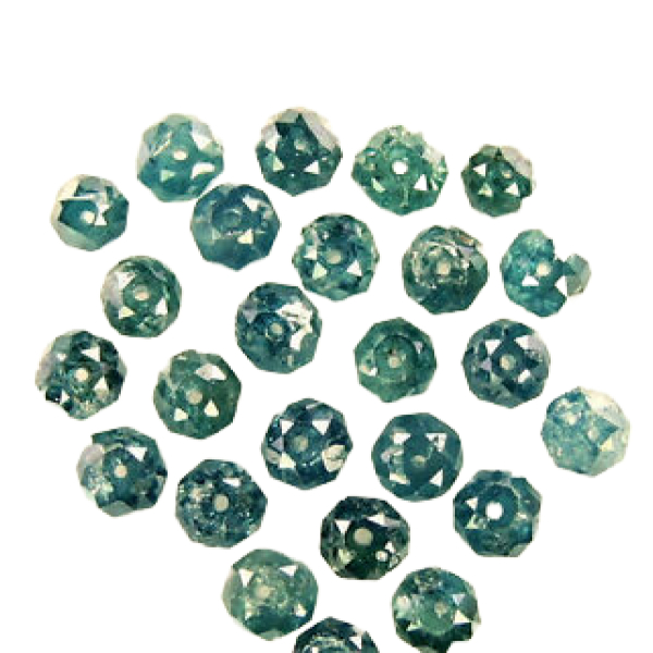 blue diamond faceted beads
