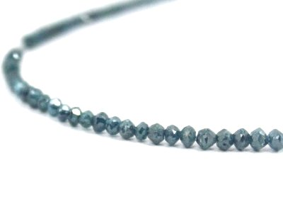 blue diamond faceted beads strand