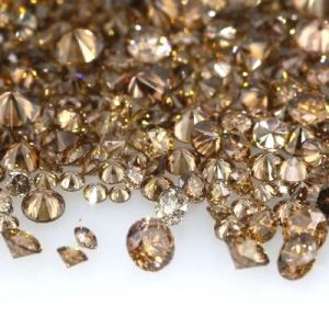 dark brown round brilliant diamonds