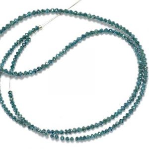 blue diamond faceted beads necklace