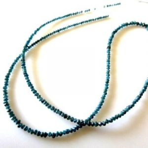 faceted blue diamond beads strand