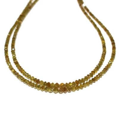faceted yellow diamond strand