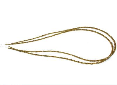 faceted yellow diamond beads strand