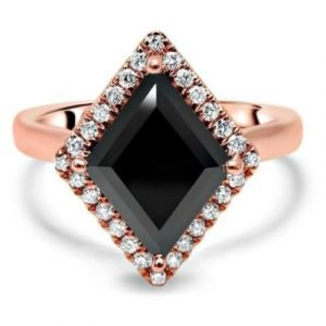 black diamond kite ring