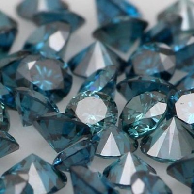 loose round blue color diamond