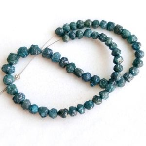 natural blue raw diamond beads