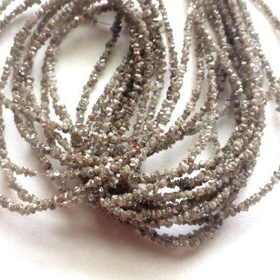 natural uncut brown beads strand