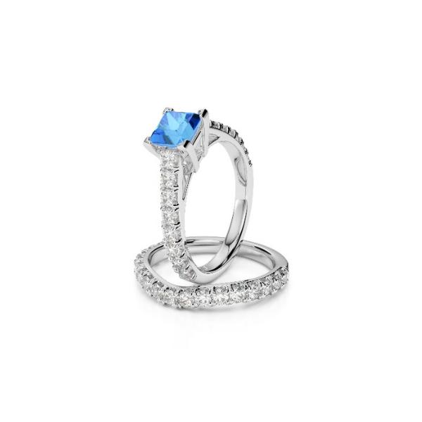 princess cut topaz ring