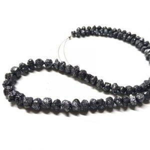 rough black diamond beads strand