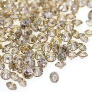 round brilliant brown diamonds lot