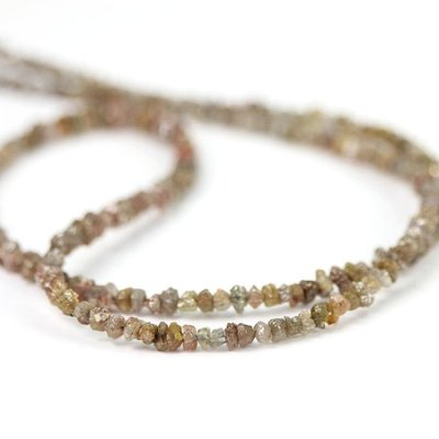 uncut brown diamond beads