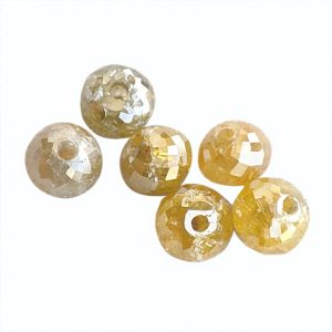 yellow diamond faceted beads