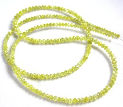 faceted yellow diamond beads necklace