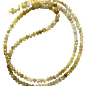 raw faceted yellow diamond beads necklace