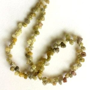 yellow drop rough diamond beads