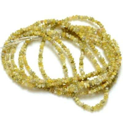 yellow raw diamond beads strand