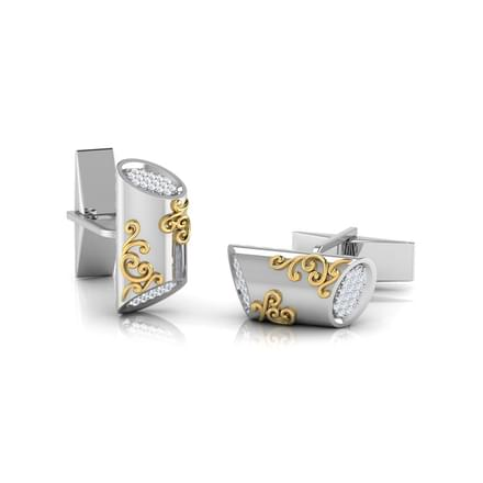 denial diamond cufflinks
