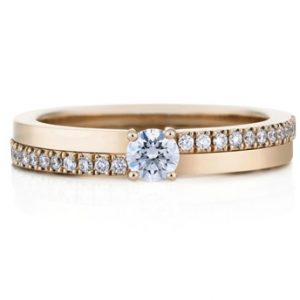 14k rose gold promise ring