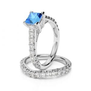 princess cut topaz ring
