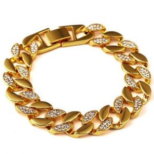 Cuban link shiny diamond bracelet